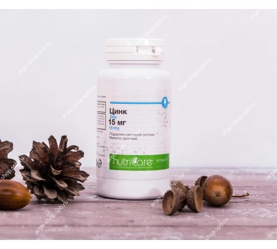 Цинк 15 мг, таблетки, 60 шт