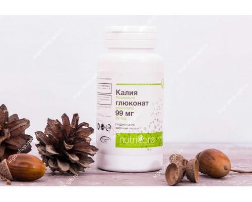 Калия глюконат 99 мг, таблетки, 60 шт